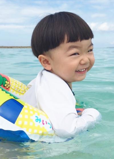 ボクはママと海が好き♡